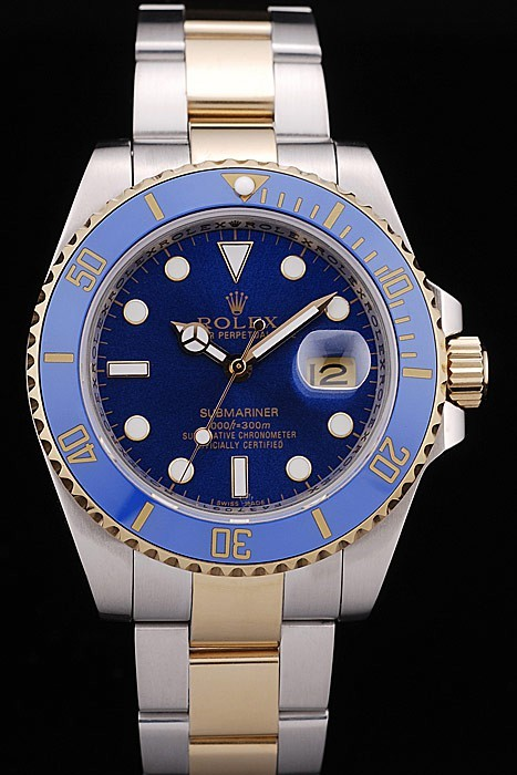 Rolex Submariner Blue Tachymeter Blue Dial